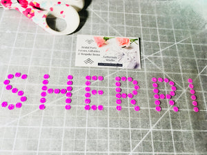 Bling Glitter name, iron on Lettering-Lettermix Studio