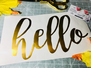 Wedding Card Box Decal, Hello decal
