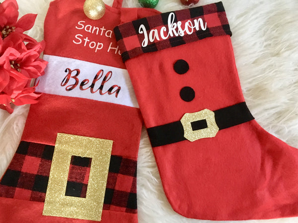 Personalized stocking iron on, stocking iron on-Lettermix Studio