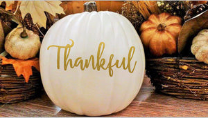 Thanksgiving decor for the home, Decal for pumpkin
