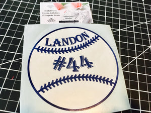 Personalized Baseball decal, Baseball gift for boyfriend-Lettermix Studio
