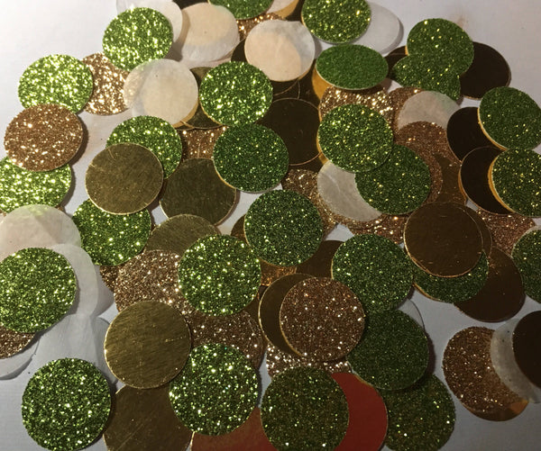 Green and Gold Confetti, St. Patricks day party decor-Lettermix Studio