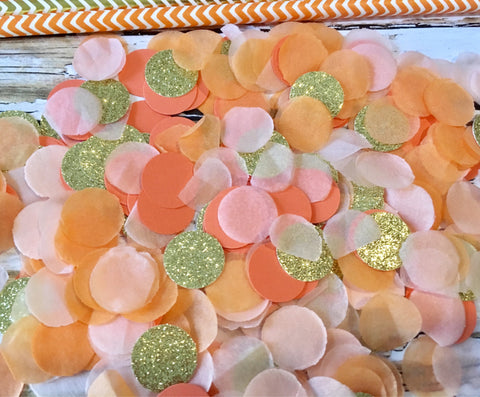 Orange and Gold Confetti, Coral confetti-Lettermix Studio
