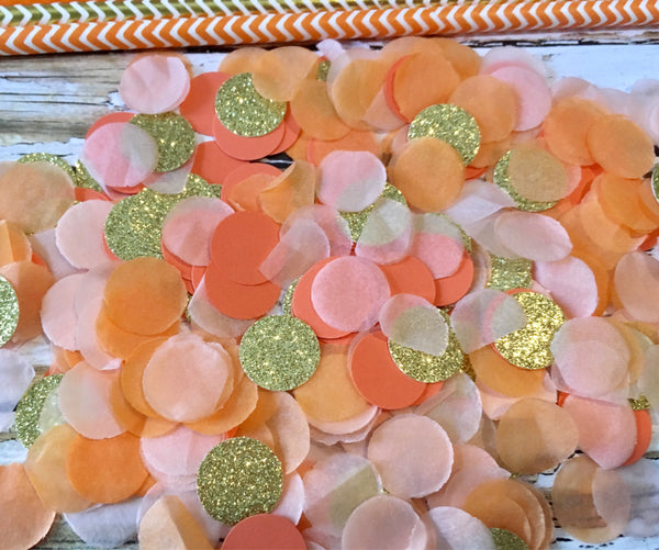 Orange Paper Straws, Gold Party Straws-Lettermix Studio