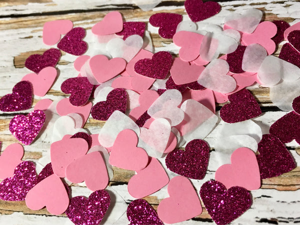 Valentine decorations, Heart Confetti-Lettermix Studio