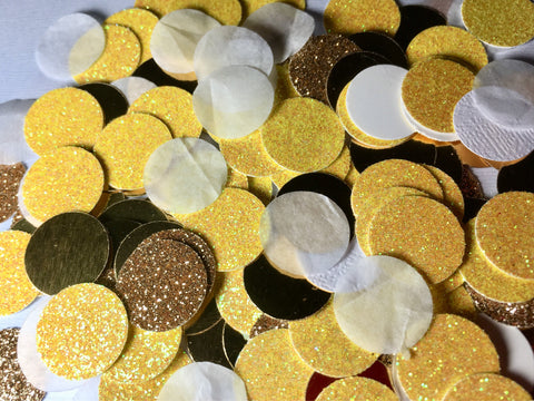 Yellow and Gold Confetti, Yellow Confetti-Lettermix Studio