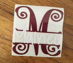 Mailbox Name Decal, Vinyl Decal
