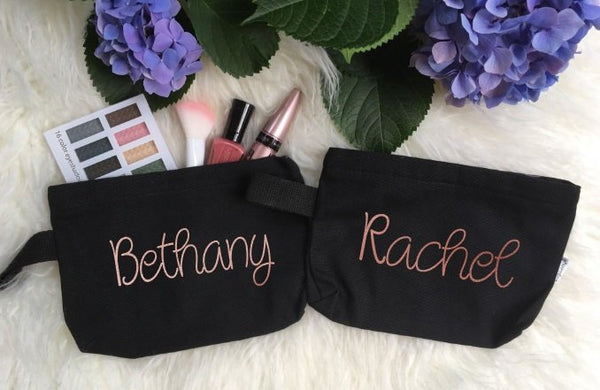 Personalized Makeup Bag, Bridesmaid Makeup Bags