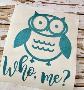 Personalized Owl decal, Car window sticker