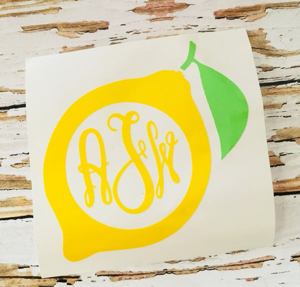 Lemon decal, cup decal