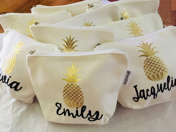 Affordable Bridesmaid proposal gift Personalized Makeup Bags