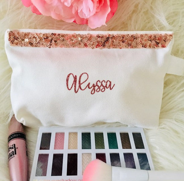 Bridesmaid Makeup bag personalized
