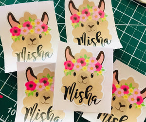 Llama decal, Sticker for Cup