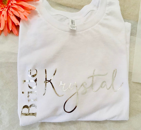 Bride and Bridesmaid tee shirts, Matching bridal party shirts