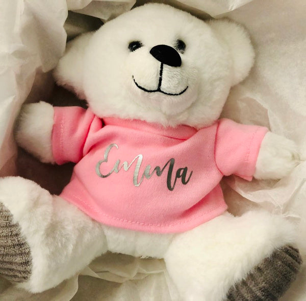 Personalized stuffed bear with tee shirt, Junior Attendant Gift idea