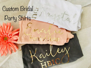 Bridal party shirts with cute sayings, Blush Pink Bridesmaid shirt