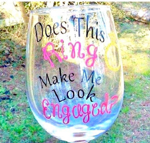 Bride Wine glass