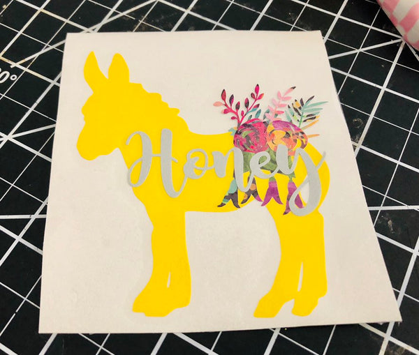 Burro Decal, Pinata decal