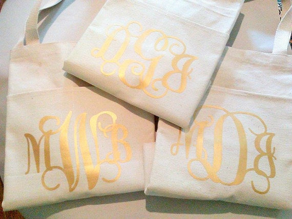 Monogram Tote Bag Sets, Bride Thank you gifts-Lettermix Studio