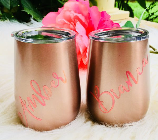 Rose Gold Stainless wine tumbler