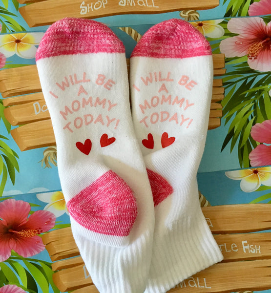 Labor and Delivery Socks, Stirrup Socks, New Mom Gift