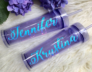 Lavender Bridesmaid Tumblers