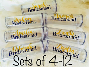 Personalized Bridesmaid Tumblers-Lettermix Studio
