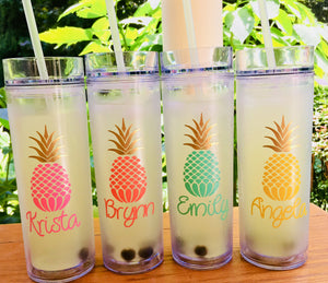 Bridesmaid Tumblers, Pineapple Tumbler