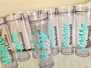Affordable bridesmaid gift tumblers
