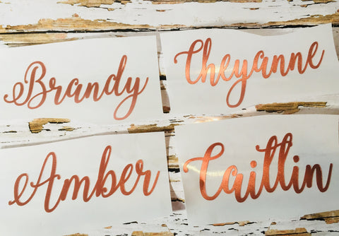 Custom Vinyl Name Labels