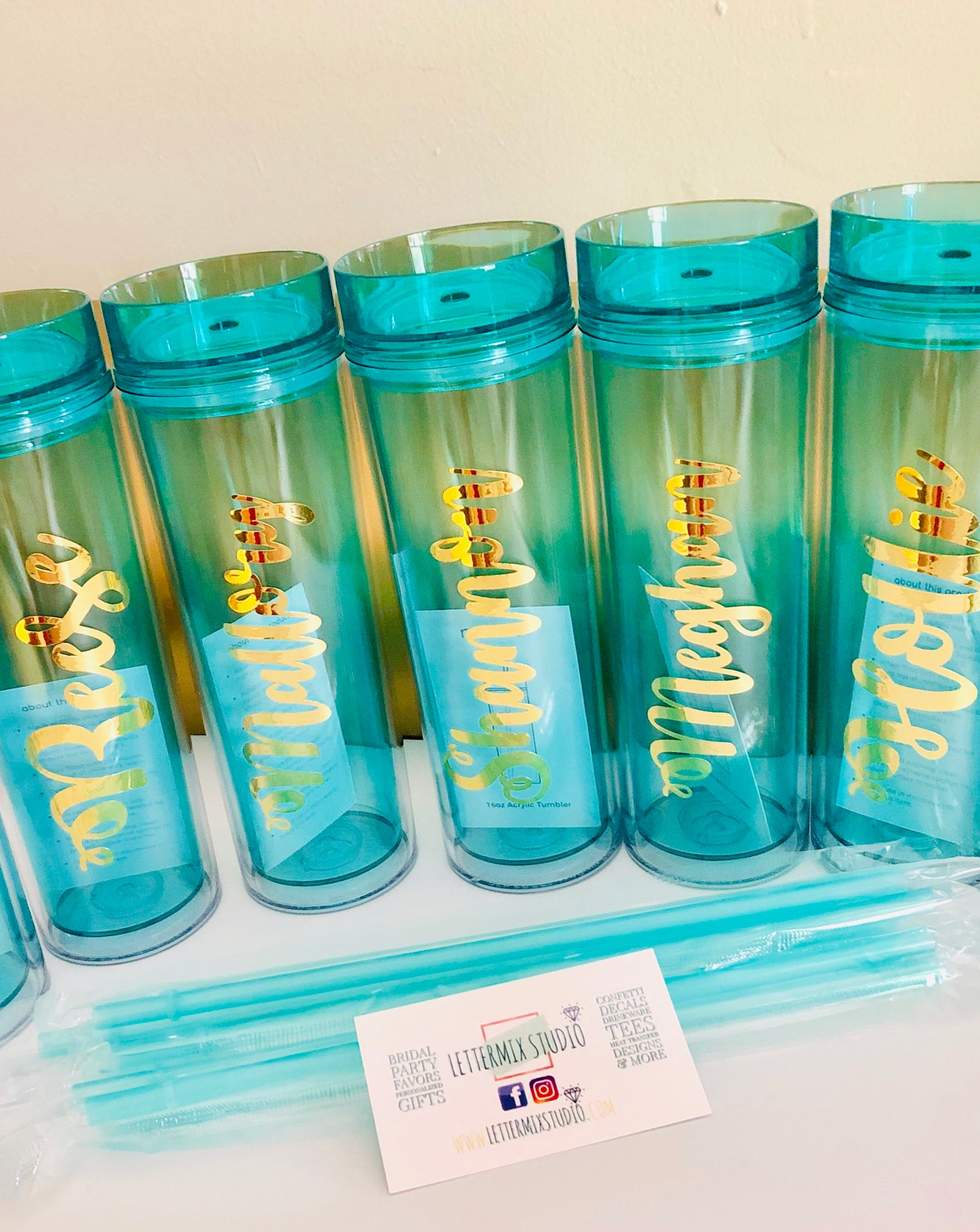 Mint Bridesmaid Tumblers