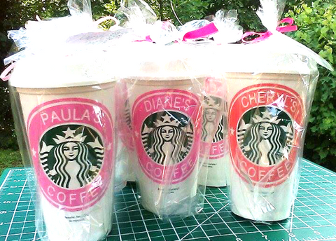Bridesmaid Starbucks Cups