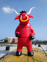 26ft (8M) Inflatable Advertising Giant Monsters Angry Red Bull -Strong 0.4PVC; NO Blower