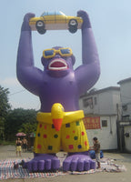 25ft (7.6M) Advertising Giant Inflatable Gorilla for Automobile Promotions; NO Blower