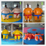 Wrestling Sumo Suit Adults 2 Suits full SET Spider man Super man