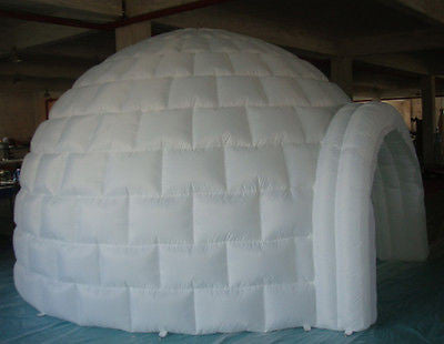 13ft (4M) Inflatable Promotion Advertising Events Igloo Dome Tent 0.4PVC; NO Blower
