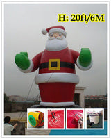 20'ft 6M Inflatable Advertising Promotion Giant Christmas Santa Claus;No Blower