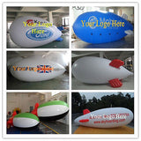 4M 13ft Giant Inflatable Advertising Blimp /Flying Helium Balloon/Free Logo