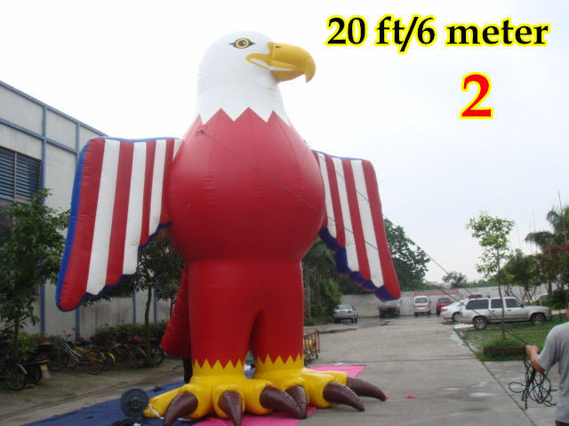 20'ft 6M Inflatable Advertising Promotional Giant American Eagle; NO blower