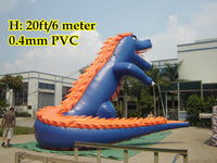 20'ft 6M Inflatable Promotional Advertising Cartoon Giant Dinosaur; NO blower