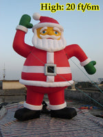 20ft (6M) Giant Inflatable Advertising Christmas Santa Claus Waving Santa; NO Blower