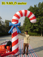 10ft (3M) Inflatable Christmas Stick Advertising Candy Cane Free Blower
