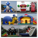 20ft (6M) Giant Inflatable Advertising Christmas Santa Claus Waving Santa /Air Motor