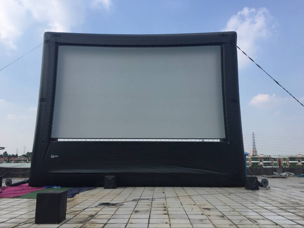 30'x17' Inflatable Movie Screen No Wrinkle Commercial Business Backyard Home Cinema Strong Durable; NO Blower