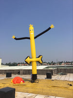 16ft (5M) Inflatable Tube Yellow Puppet; Custom colors