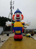26ft (8M) Advertising Promotional Giant Inflatable Charlie the Clown;NO Blower