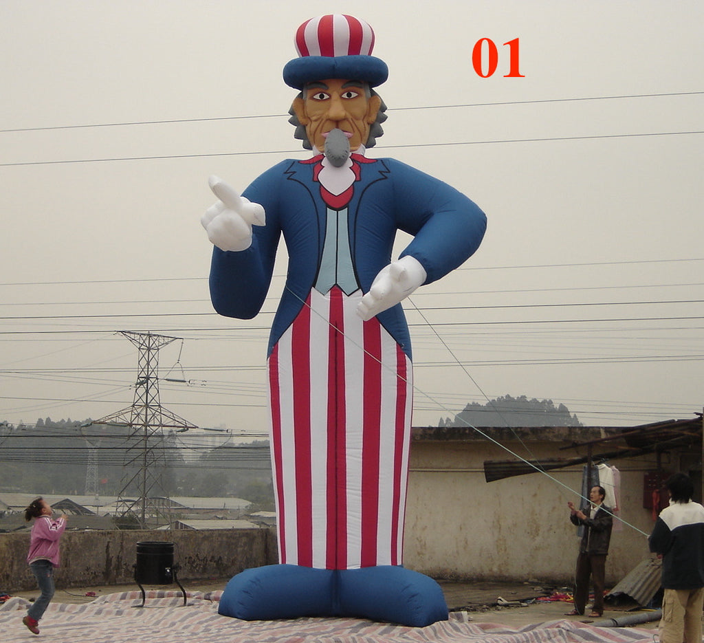 32 ft (9M) Giant Inflatable Uncle Sam 01 Holiday Celebration US Memorial Day; NO Blower