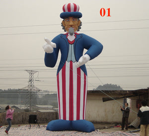 26ft (8M) Giant Inflatable Uncle Sam 01 for Holiday US Memorial Day; Free Blower