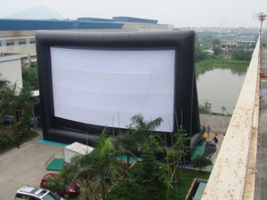 53x30ft Commercial Inflatable Movie Screen High Stand Theater Screen Wrinke Free;NO BLOWER