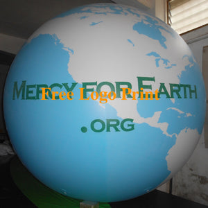 Air-Ads 11ft 3.3m Giant Inflatable Globe Map World Balloon /Free Logo (PVC)